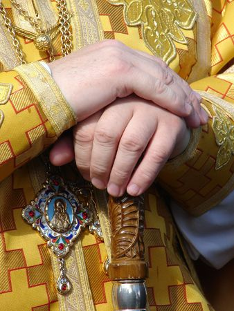 Slavic orthodox priests' hands Stock Photo - 4196041