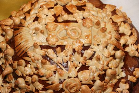 Ukrainian festive bakery Holiday Bread for wedding photo