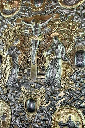 heavy rich golden cover of Orthodox Gospel or Bible