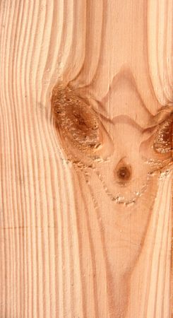 openair: Knots on textured wooden plank like alien face Stock Photo