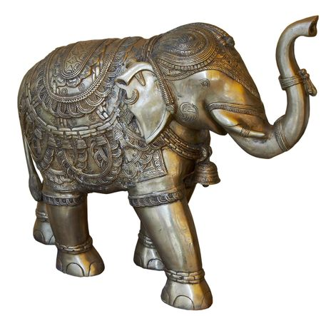 isolated Buddhist Statuette of elphant 스톡 사진