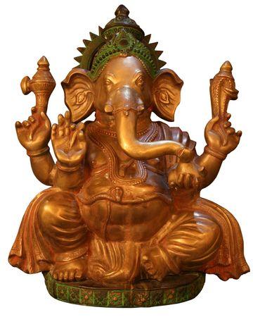 sanskrit: isolated Buddhist Statuette of elphant Stock Photo