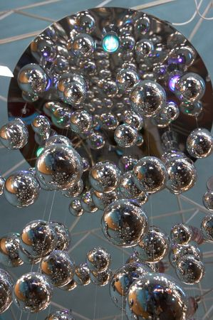 colored backgound: Colored shiny glass spheres chaotic backgound