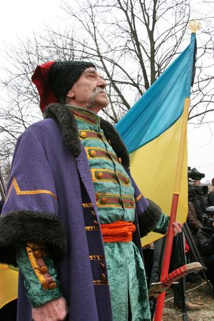cossack: Cossack with long whiskers Stock Photo