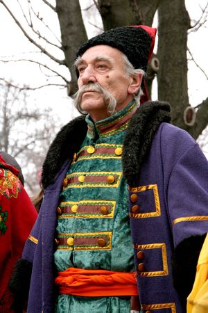whiskers: Cossack with long whiskers Stock Photo