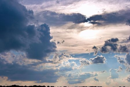 standpoint: Panoramic HDR image of cloudy sky wide angle view Stock Photo
