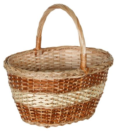 manually: handmade wicker basket manually mastered of light brown rods