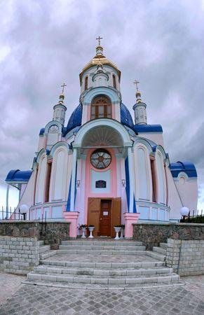 sumy: Modern orthodox Church of St. Valentine in Ukrainian city of Sumy
