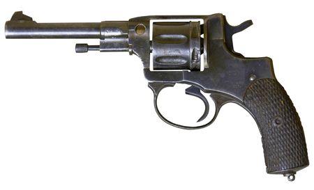 isolated rusty obsolete vintage sixshooter on white background Stock Photo - 3978727