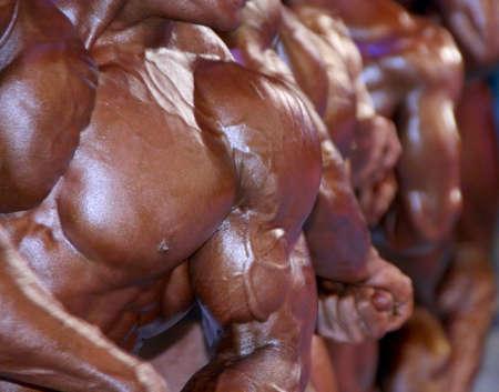 culturista: enorme grupo de hombres muscular pechos Foto de archivo