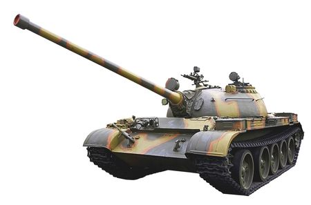 isolated soviet light tank on white background