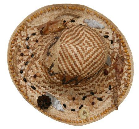 interlaced: Decorated interlaced summer straw hat