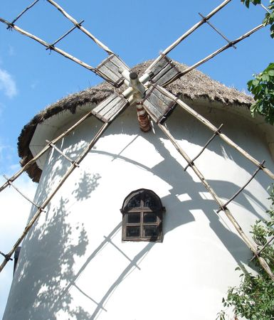 nonviolent: Ancient traditional ukrainian mill in old village