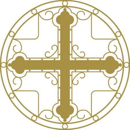 adorn: Santa cruz cristiana con ornamento