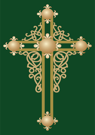 orthodox: Christian Holy cross with ornament