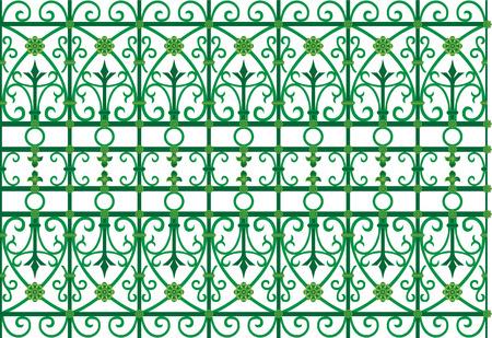 irritate: vector image of metal scoop  grating fence  Illustration