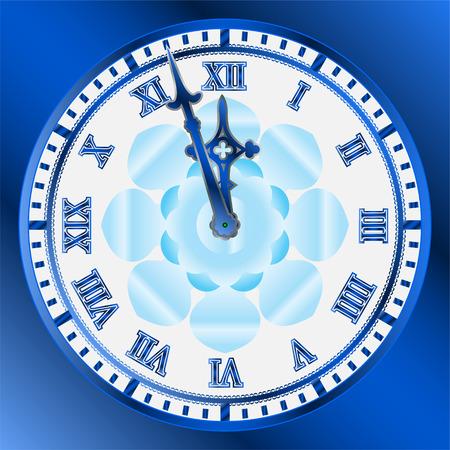 Vector image of vintage clocks face Vector