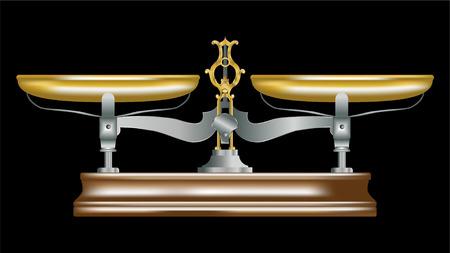 vector illustration of  vintage metal table scales Illustration