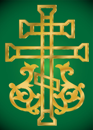 vector illustration of Christian Holy cross with ornament  Vector