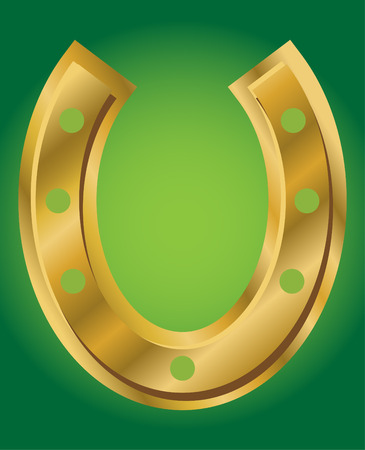 ductile: vector illustration of lucky horseshoe on green background