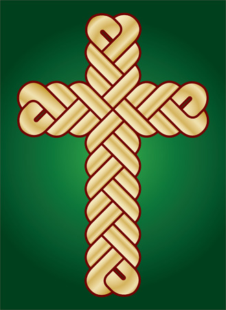 crucify: vector image of twisted Christian Holy cross