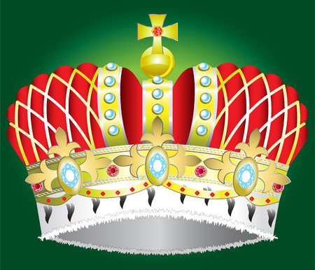 czar: Abstract Medieval royal crown vector illustration