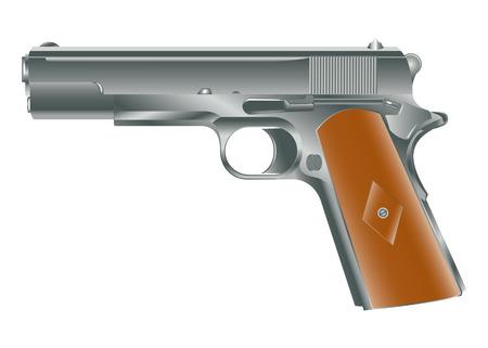 Vector image of personal pistol hand gun Stock Vector - 4621337