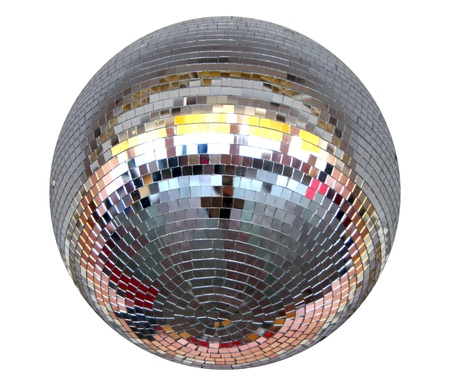 Isolated silver night club lighting  mirror-ball photo