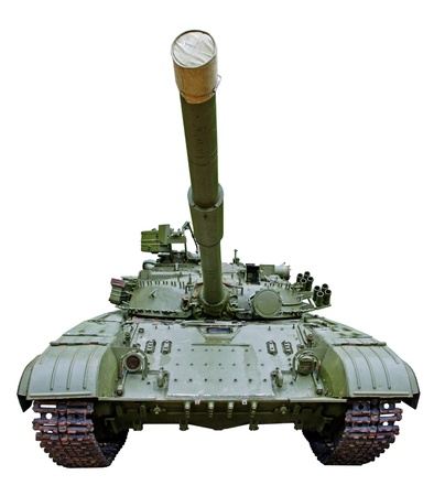 isolated soviet light tank on white background Stock Photo - 17438914