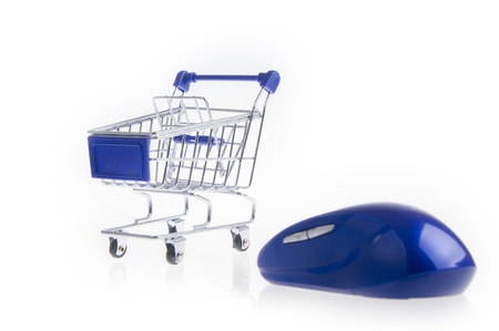 facilitate: Shopping cart and mouse Stock Photo