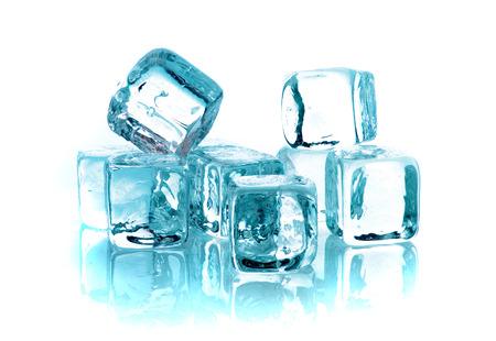 Blue ice cubes on white background Stock Photo - 1677454