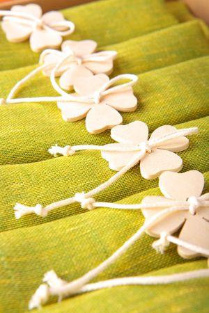 serviette: Schoonheid groen servet Stockfoto