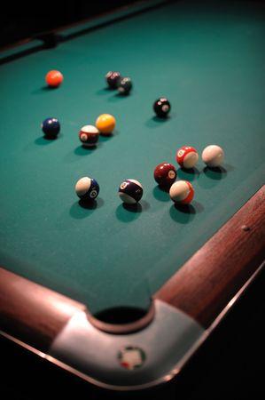 poolball: Billiard table with balls