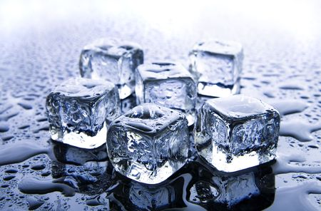 ice cubes: Melting ice cubes