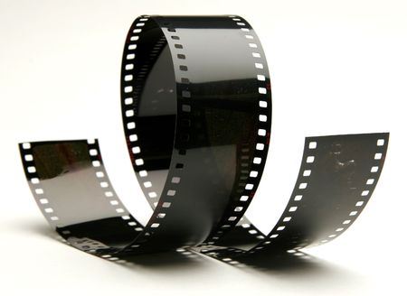 curly film Stock Photo