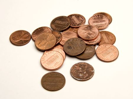 dime: pennies