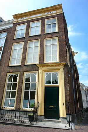 classy house: Old classy patrician house downtown in the provincial Dutch port city of Middelburg, Zeeland, the Netherlands. Built right after the Golden Century.