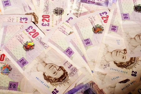 Money notes sterling cash money Stock Photo - 2513353