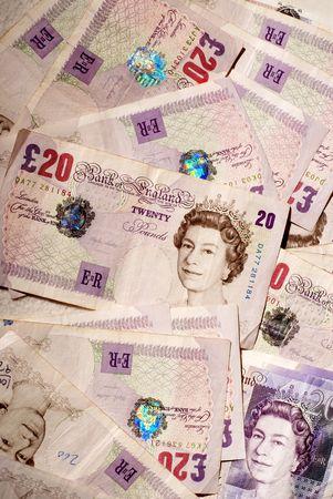 sterlina: Soldi, soldi, denaro contante note sterlina
