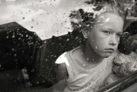 Sad girl portrait