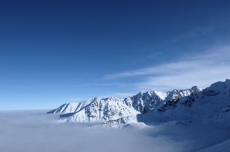 lanscape: tatra mountains in poland, view from kasprowy, winter lanscape Stock Photo