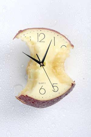 eatten apple of time photo