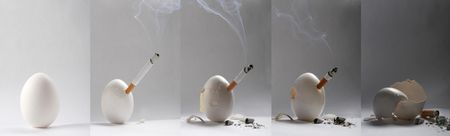 parting: series of parting smoker egg