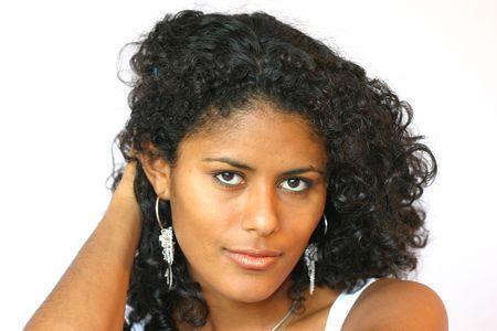 Beautiful brazilian woman in sexy pose photo