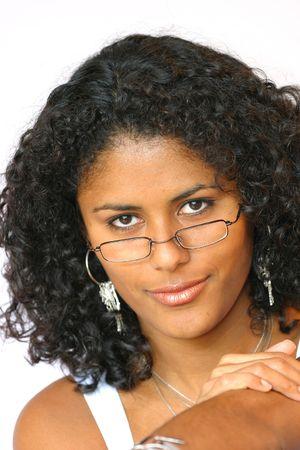 peering: Peering over my glasses