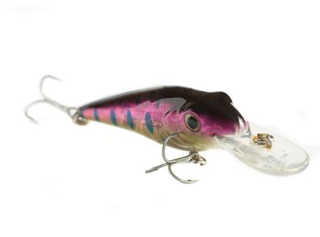 Shiny lure used as bait for predator fish photo