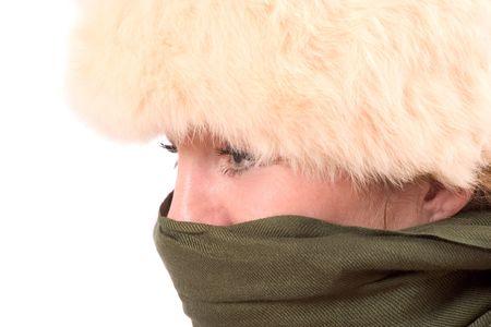fake smile: Prepared for the cold