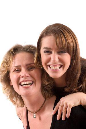 due amici: Due amici divertendosi  Archivio Fotografico