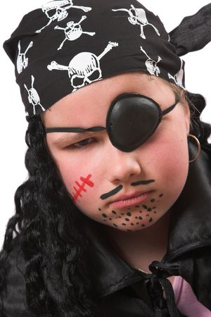 Ten year old girl as a pirate for Halloween party photo