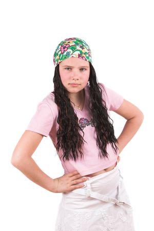 bandana girl: Petite fille dure avec le bandana